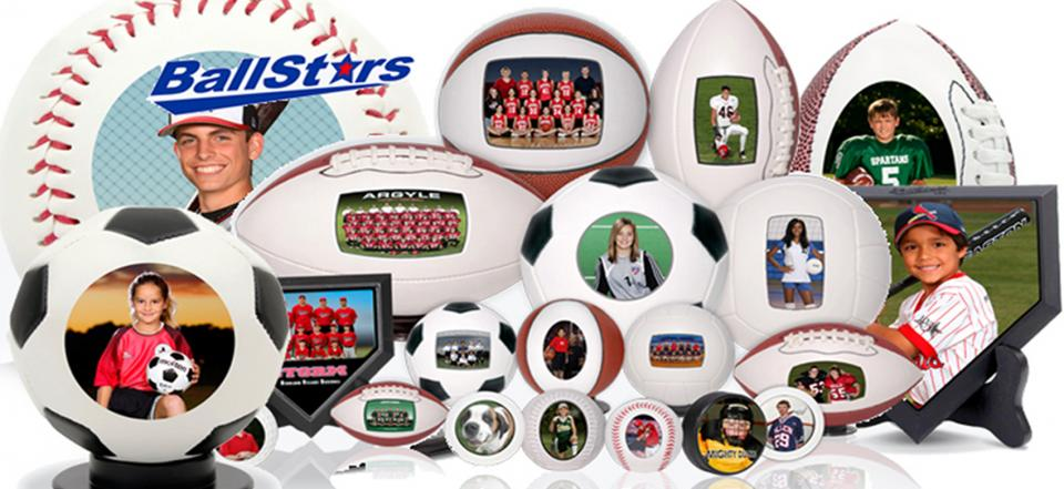 sports balls with your favorite family athlete.